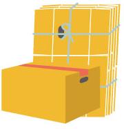 使用済みの段ボール